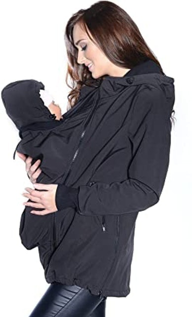 MijaCulture 3-in-1 Front And Back Facing Maternity Jacket 1