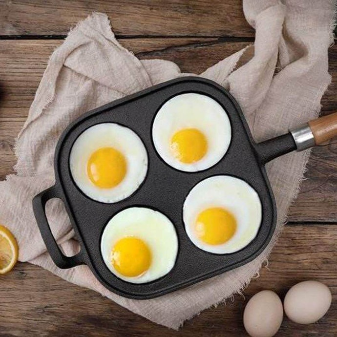 Pans with Individual Sections Keep Eggs Uniform
