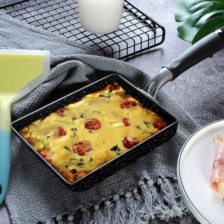 Pick Larger Diameter Pans For Scrambled Eggs and Rectangular Pans for Omelettes
