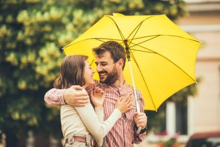 Golf or Walking Umbrellas Are the Original Two-Person Brolly to Shelter the Whole Body