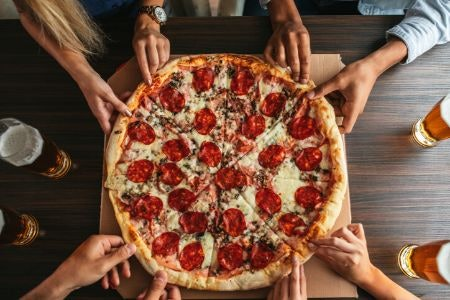 Medium and Large Pizzas Are Ideal As a Meal for One or to Share With Friends