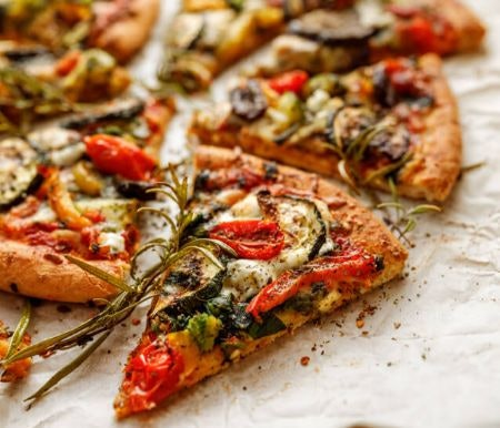 Vegetable and Vegetarian Toppings Can Make for a Lighter and Less Greasy Pizza